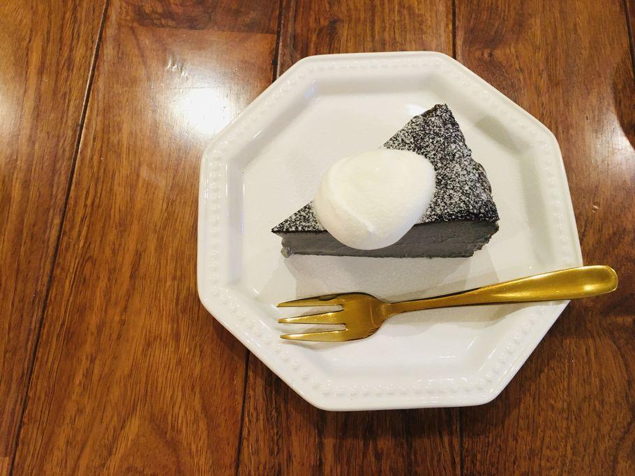 チーズケーキ上