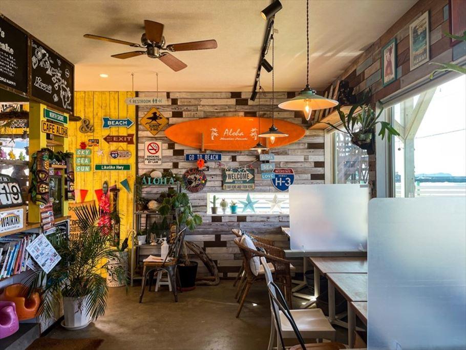 オーシャンビューでふわふわとろけるハワイアンパンケーキ♪福岡県福津市「cafe ALOHA」