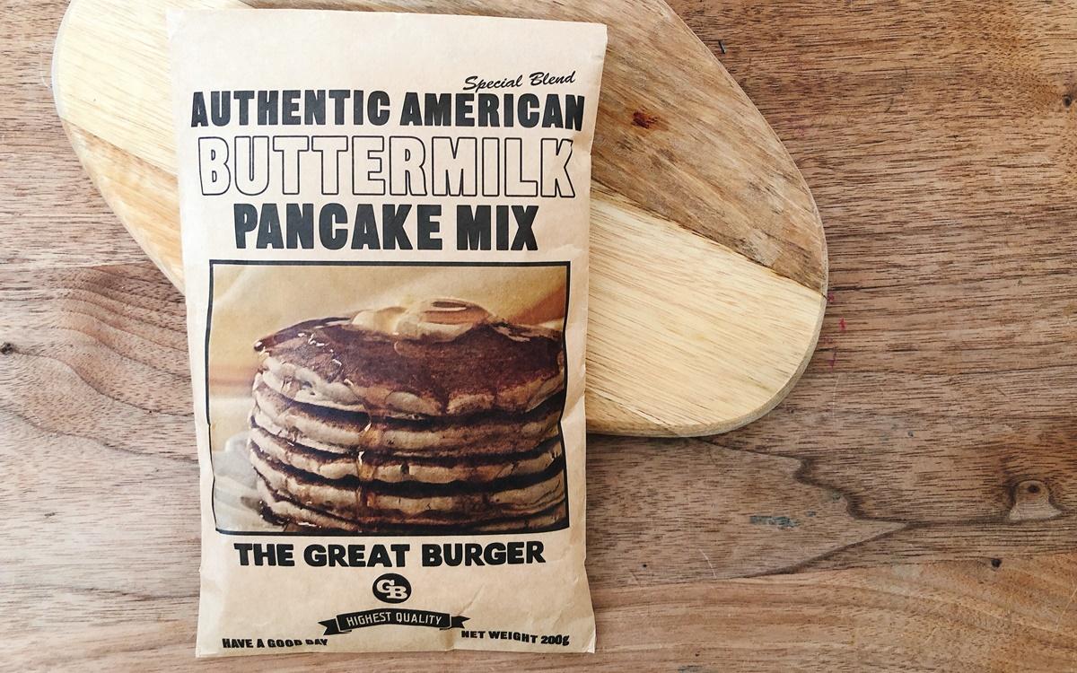 たっちゃんずパンケーキ部」おススメのパンケーキミックスを実際に作ってみた! その2「THE GREAT BURGER」は食事系パンケーキとしても最適!