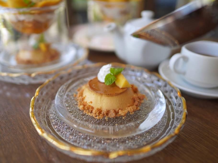 神戸一の映えプリン!! マンゴーの薔薇に舞い降りる蝶! 美味しさも楽しさもメゾネットなプリンは『洋食屋神戸デュシャン』にあり