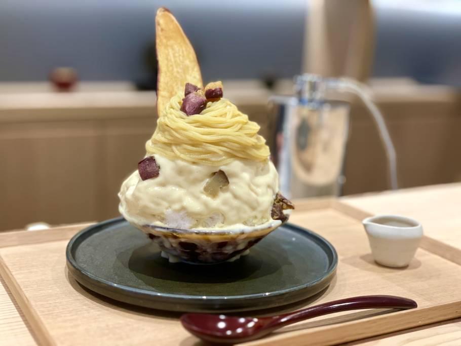 """新食感!かき氷なモンブラン。麻布十番で""""焼き芋とコーヒー""""が楽しめるカフェ「望月」"""
